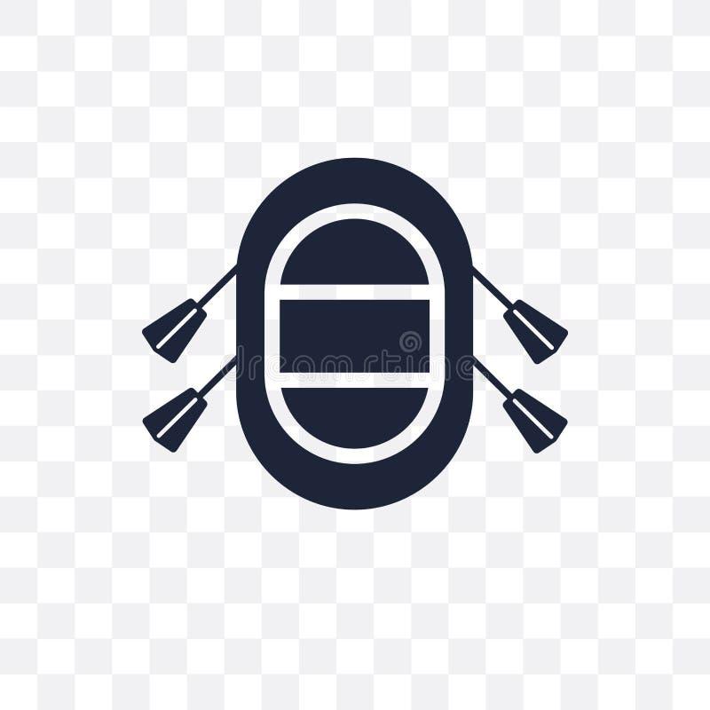 Gumowej tratwy przejrzysta ikona Gumowy tratwa symbolu projekt od Nau ilustracja wektor