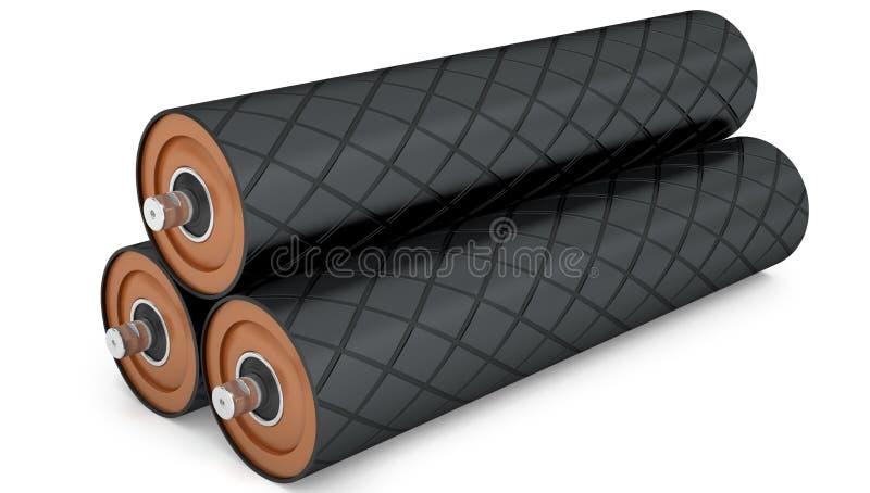 Gumowy bębenu konwejeru pulley royalty ilustracja