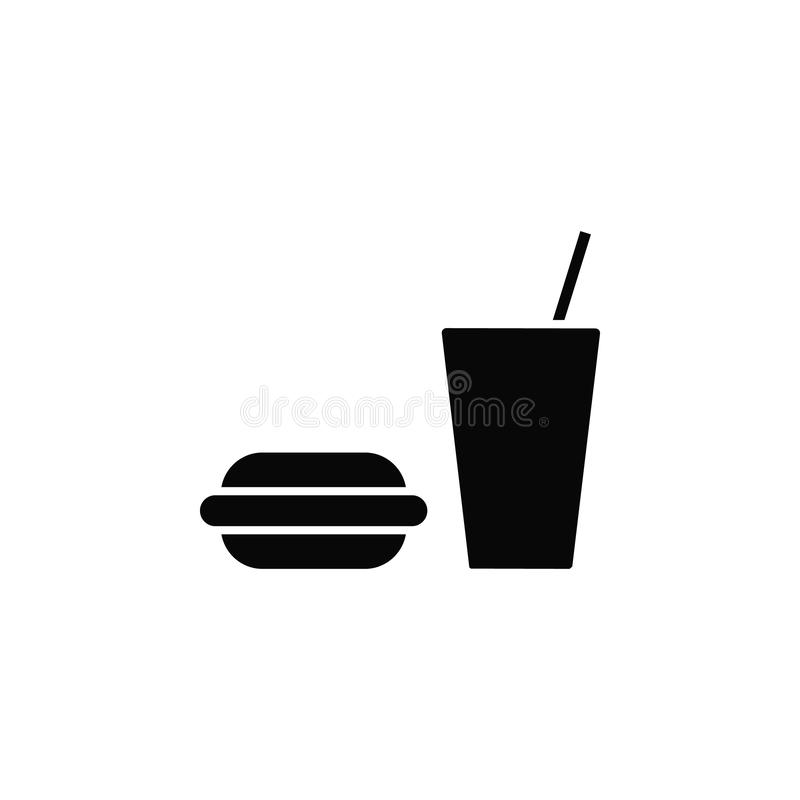 Gumowy hamburger, napój, ikona Element prosta ikona dla stron internetowych, sieć projekt, mobilny app, infographics Gęsta kresko ilustracja wektor