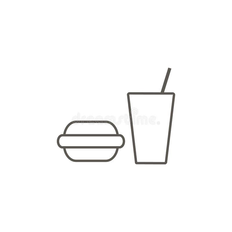 Gumowy hamburger, napoju wektoru ikona Prosta element ilustracja od mapy i nawigacji poj?cia Gumowy hamburger, napoju wektoru iko royalty ilustracja