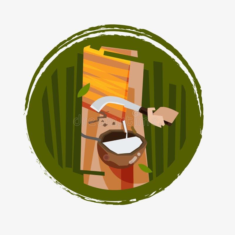 Gumowy klapanie - wektorowa ilustracja ilustracji