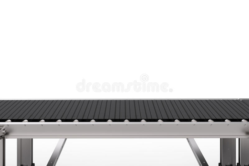 Gumowy konwejeru pasek odizolowywający na bielu ilustracja wektor