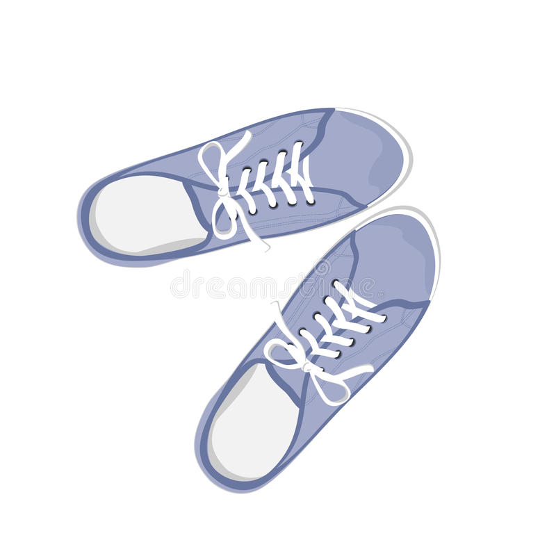 Gumshoes azuis do esporte ilustração royalty free