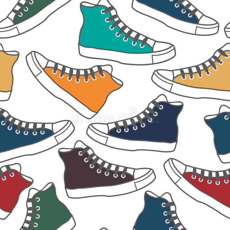 Gumshoes coloridos ilustração royalty free