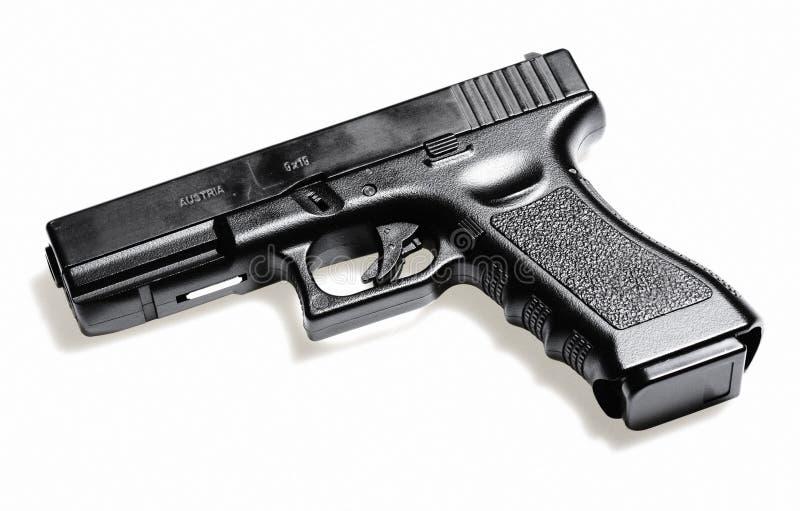 Gun. Modern semiautomatic hand gun, Glock pistol firearm
