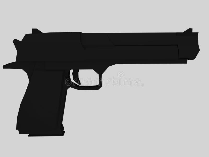 Download Gun stock illustration. Illustration of computer, render - 11548248