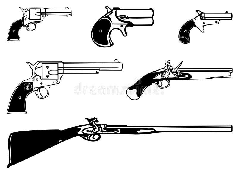 Download Gun stock illustration. Image of ammo, dangerous, automatic - 12286032