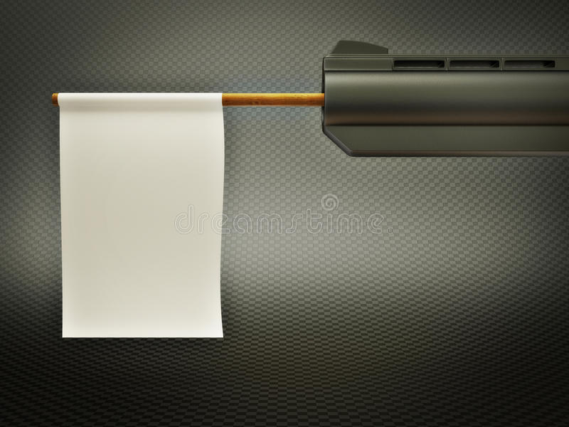 Download Gun stock illustration. Image of print, white, design - 20285690