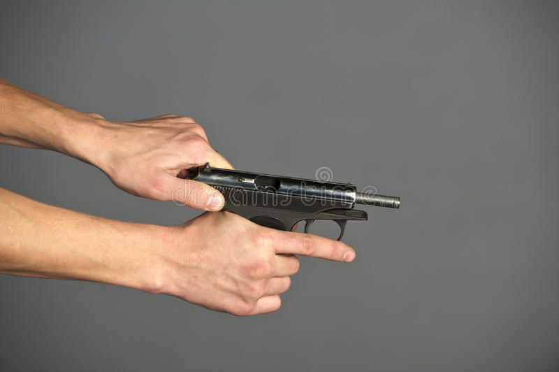 Download Gun stock photo. Image of metal, power, gunman, bullet - 22843768