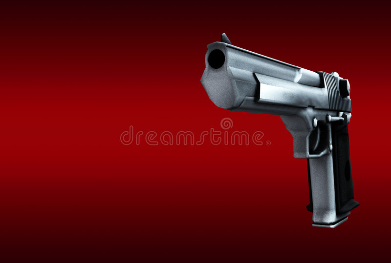 Download Gun stock illustration. Illustration of criminality, danger - 4117797