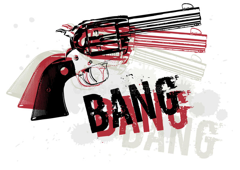 Gun Abstract royalty free illustration