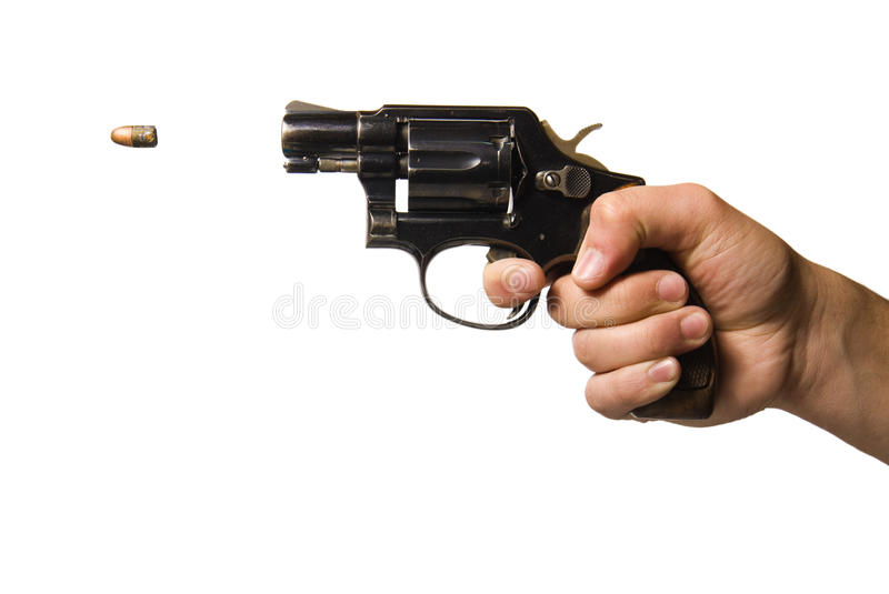 Gun being fired stock images