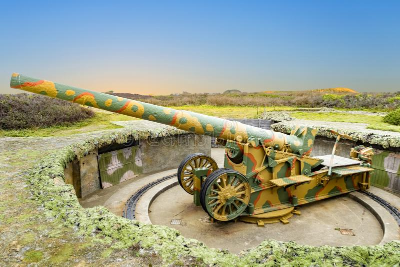 Gun bij Les Landes royalty-vrije stock foto