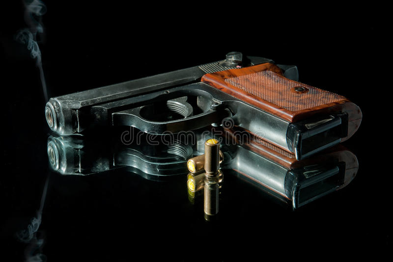 Download Gun with bullet stock photo. Image of american, criminal - 16047786