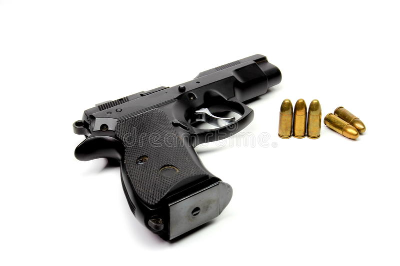 Download Gun and bullet stock image. Image of metallic, image - 26957897