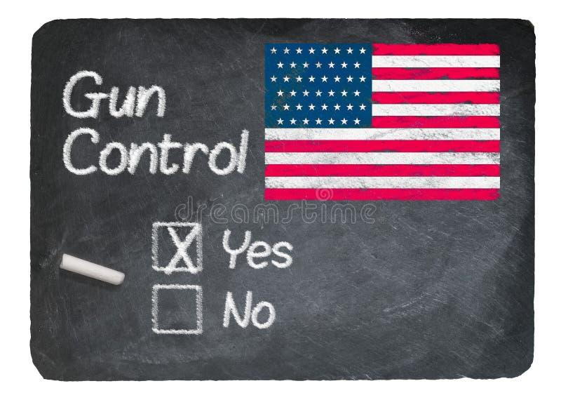 Download Gun Control Choice Using Chalk On Slate Blackboard Stock Photo - Image: 83721818
