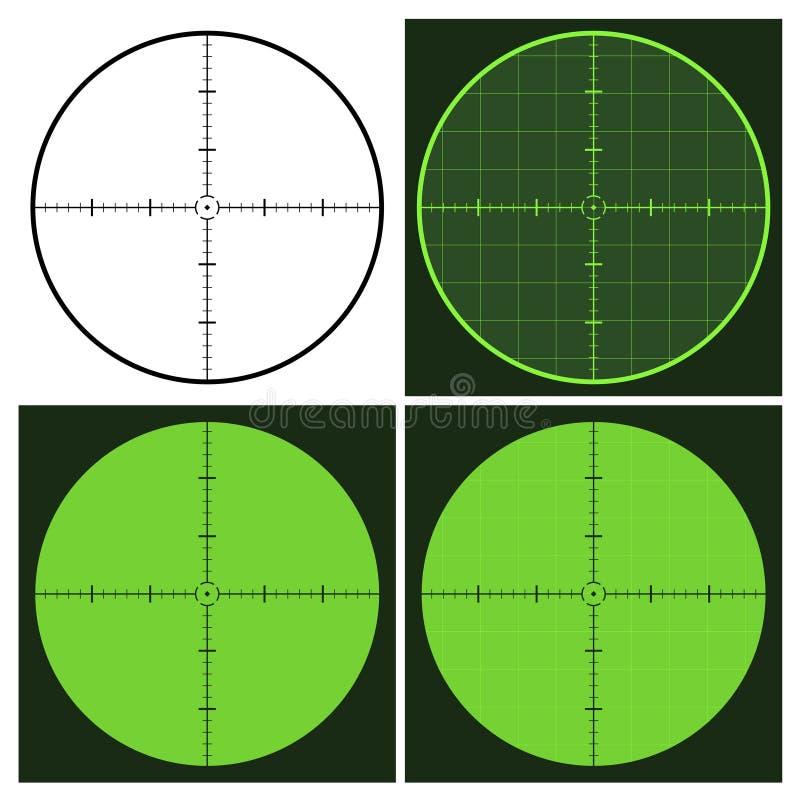 Gun crosshair sight. Illustration for the web stock illustration