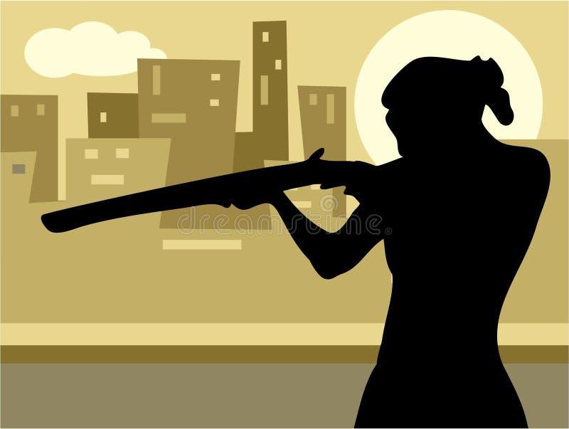 Download Gun Culture stock illustration. Illustration of pointing - 129650