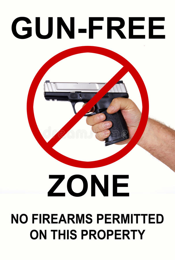Free Gun Free Zone, No Firearms Royalty Free Stock Photography - 36233387