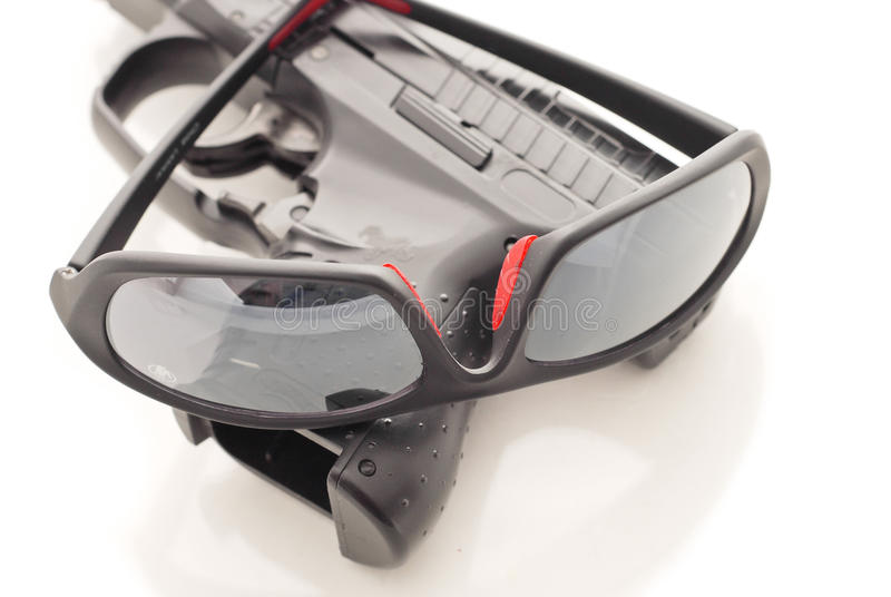 Gun And Glasses Stock Photography
