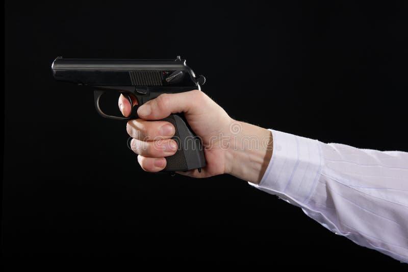 Gun In Hand Stock Images