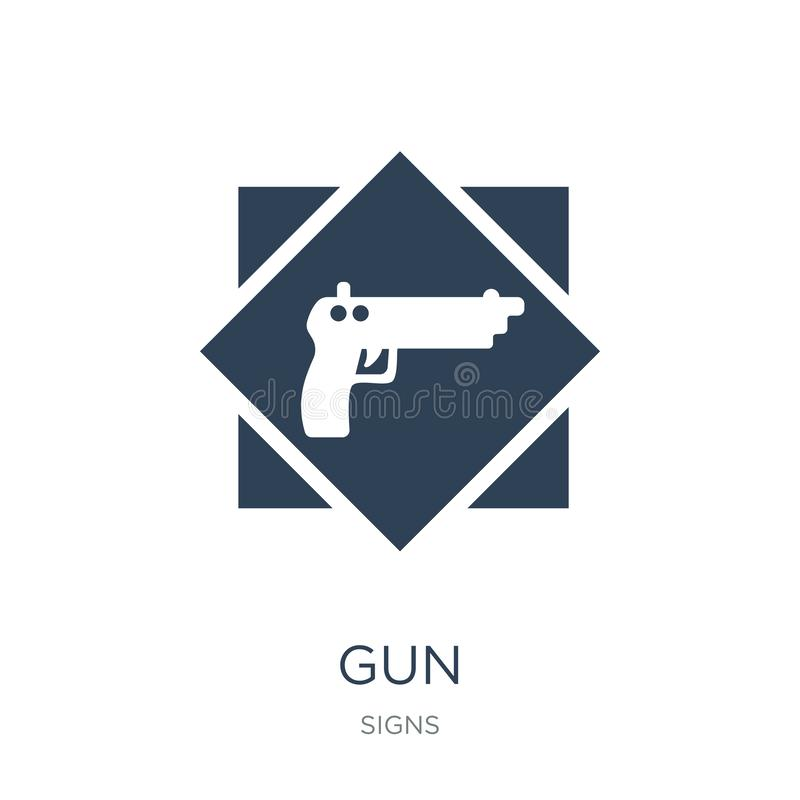 gun icon in trendy design style. gun icon isolated on white background. gun vector icon simple and modern flat symbol for web site vector illustration