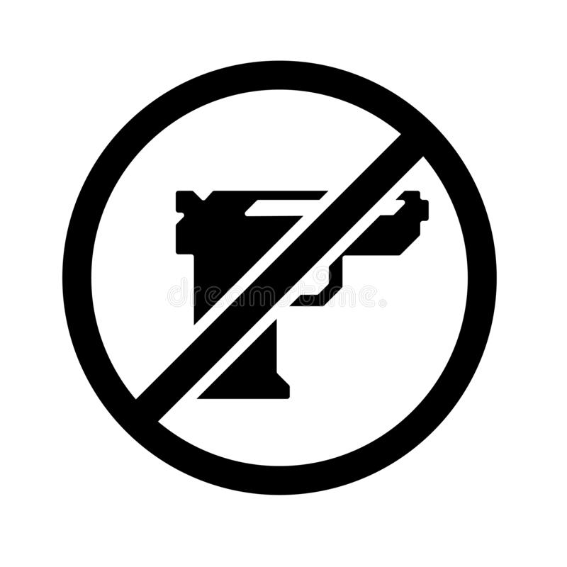 Gun icon vector sign and symbol isolated on white background, Gun logo concept royalty free illustration