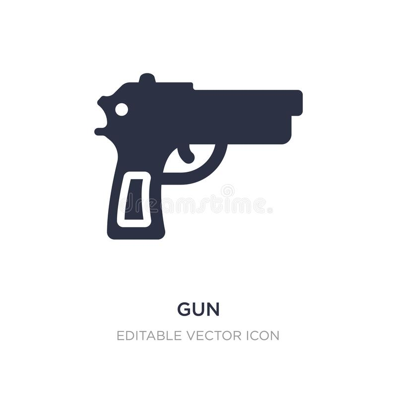 gun icon on white background. Simple element illustration from Signs concept stock illustration