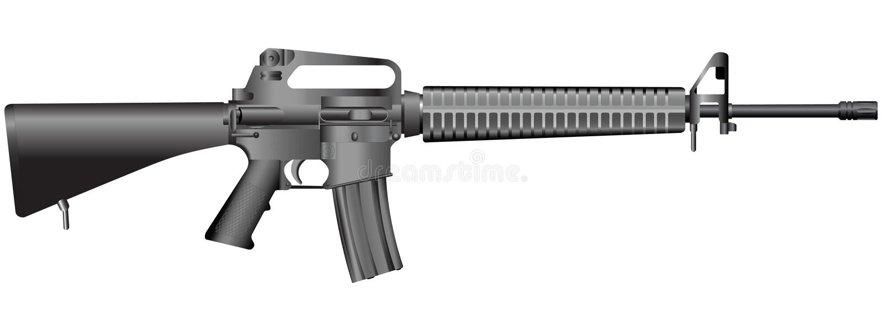 Gun illustration(vector) royalty free stock image