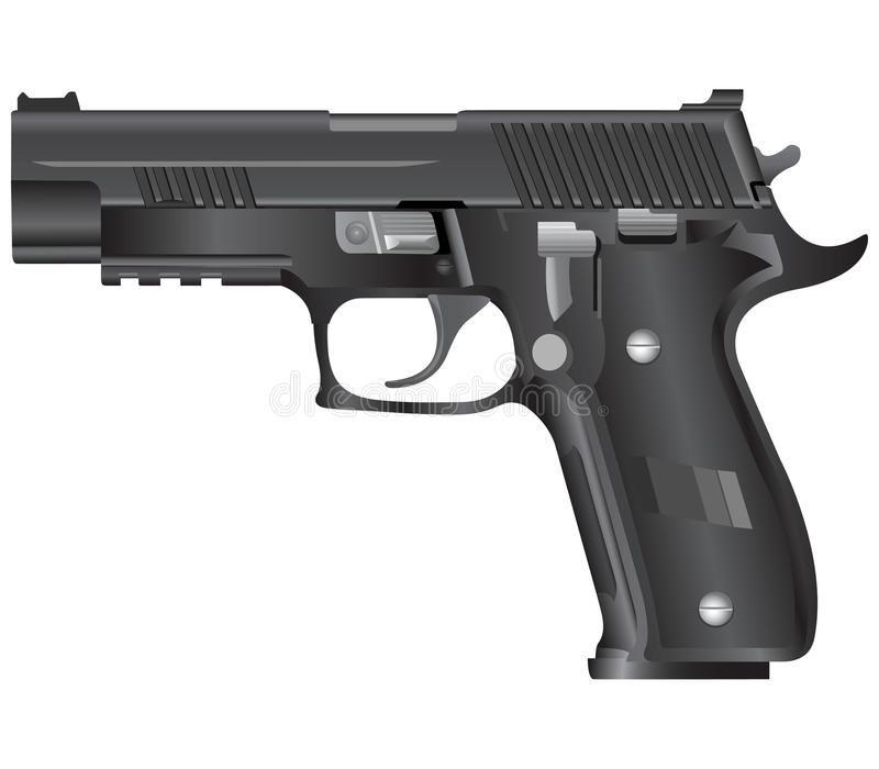 Gun illustration(vector) stock images