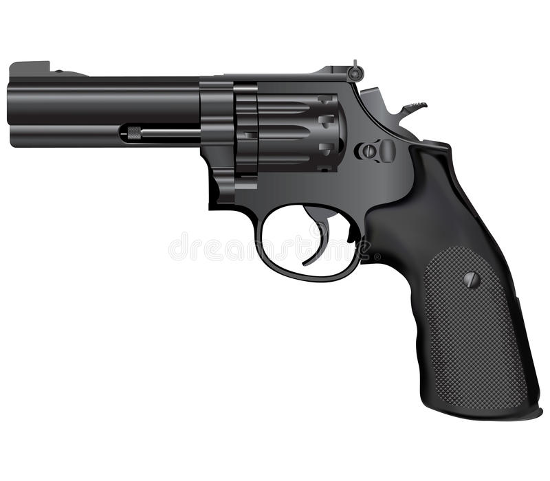 Gun illustration(vector) royalty free stock photography
