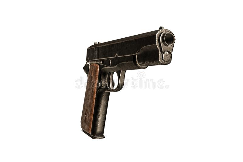Gun isolated on white background. 3d illustration royalty free illustration