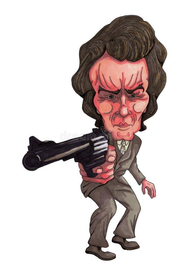 Gun Man stock illustration
