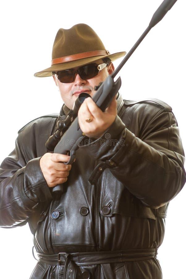 gun mannen fotografering för bildbyråer
