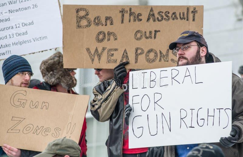 Gun Rights Rally Montpelier Vermont. Editorial Photo
