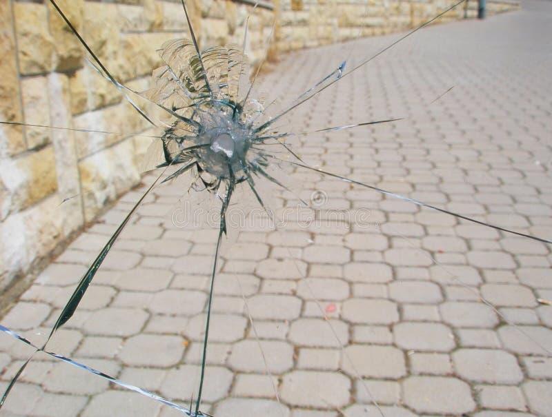 Download Gun shot window stock photo. Image of close, crime, hole - 14833892
