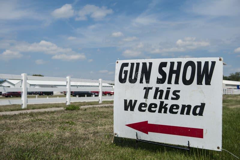 Gun show sign stock images