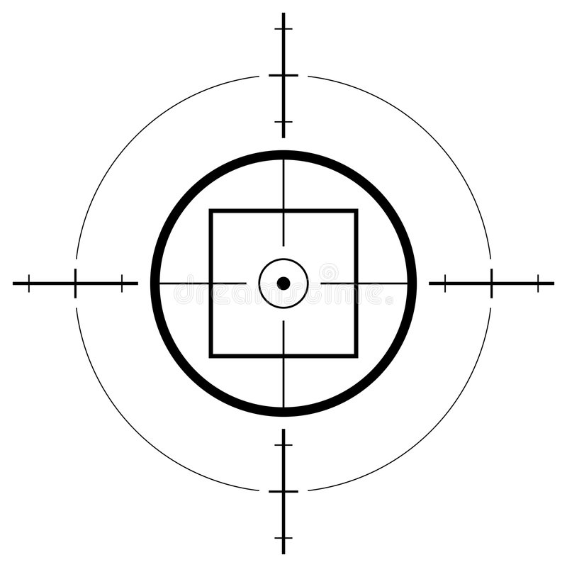 Gun sight. Isolated over white background royalty free illustration