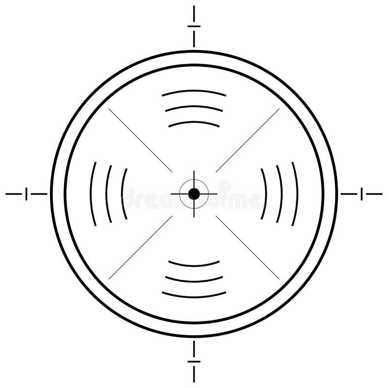 Gun sight grid. Over square white background royalty free illustration