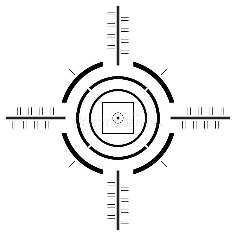 Gun sight template. Over square white background vector illustration