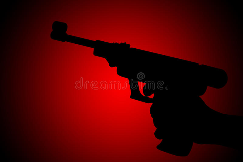 Download Gun silhouette stock photo. Image of holding, practice - 16741878