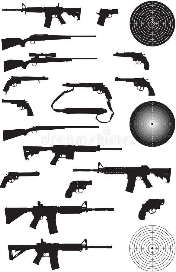 Download Gun Silhouette Collection Stock Photos - Image: 16894123