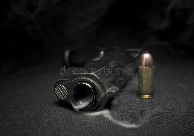 Download Gun and smoke stock photo. Image of weapon, police, shooting - 4795646