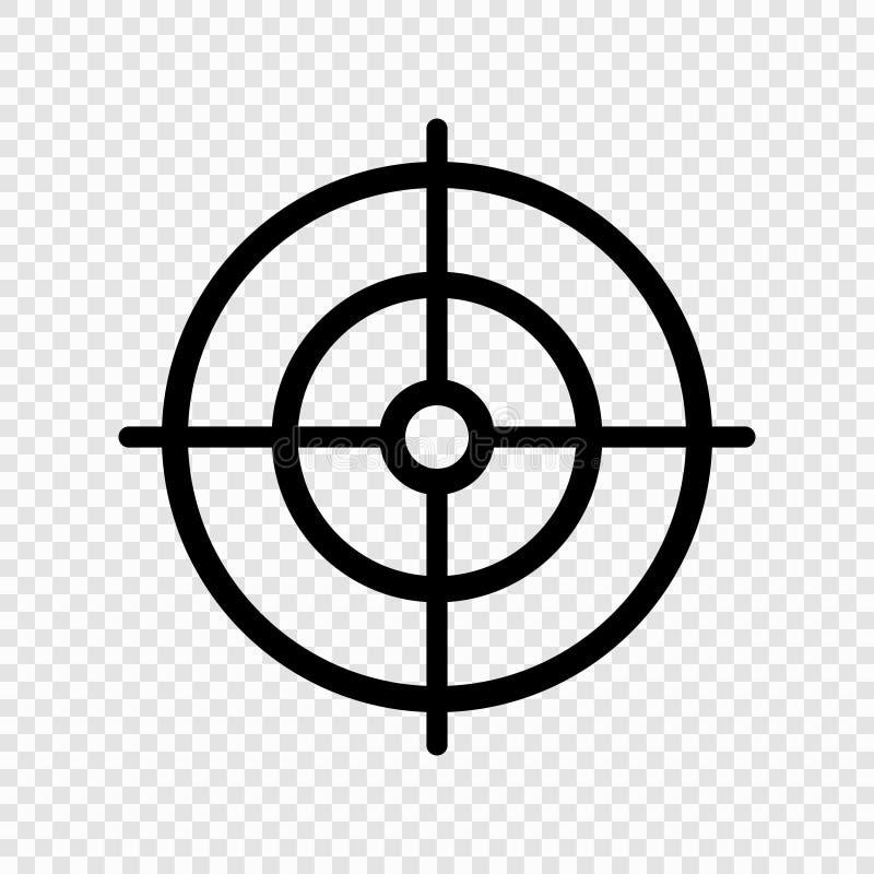 Gun target icon royalty free illustration