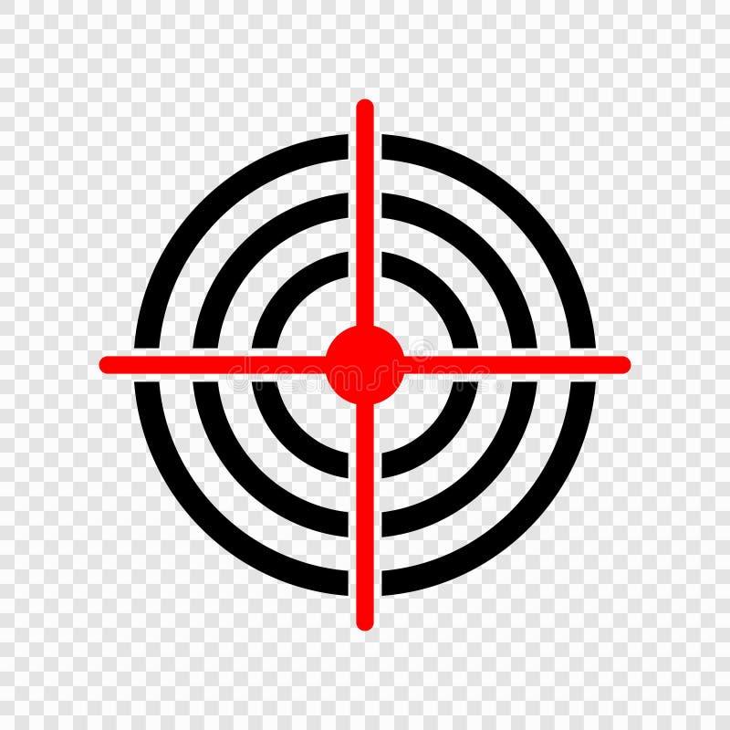 Gun target icon stock illustration