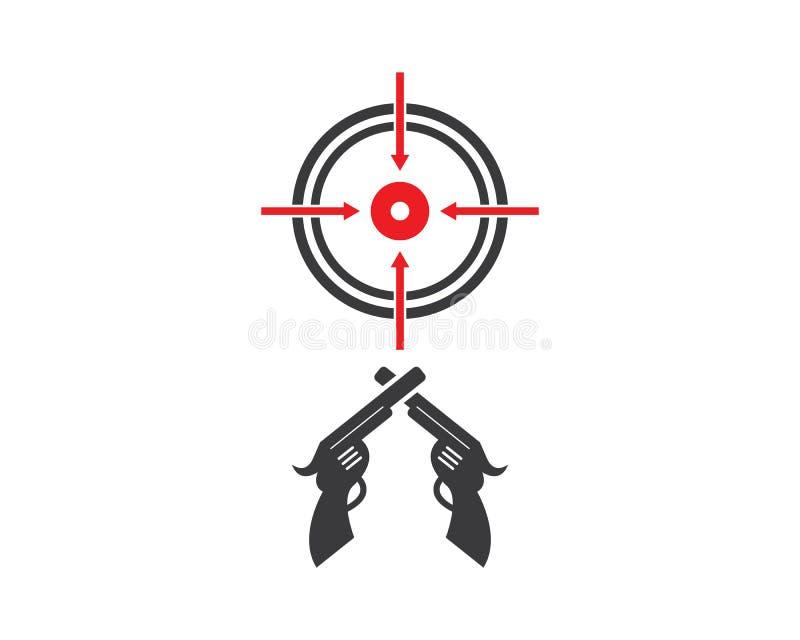 gun target icon vector vector illustration