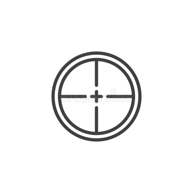 Gun target line icon vector illustration