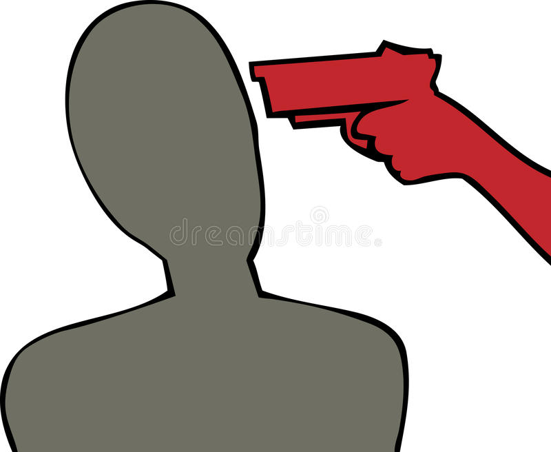 Download Gun to The Head stock vector. Image of killer, pointing - 29034998