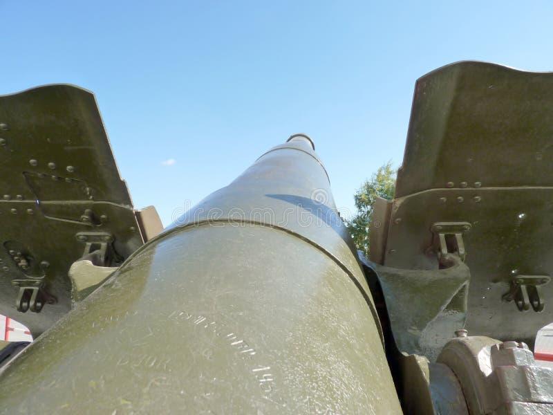 Gun Trunk. Soviet gun-howitzer of times of World War II royalty free stock photography
