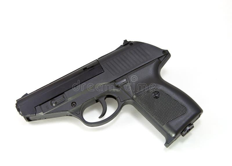 Gun on white. Gun on a white background stock images
